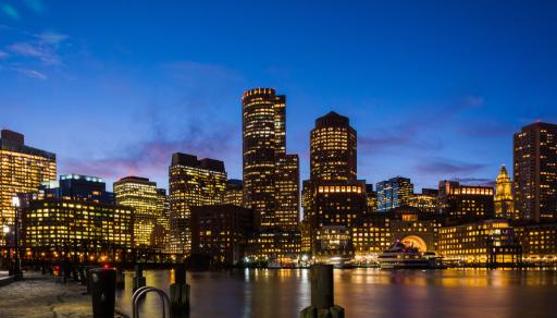 A big city skyline.