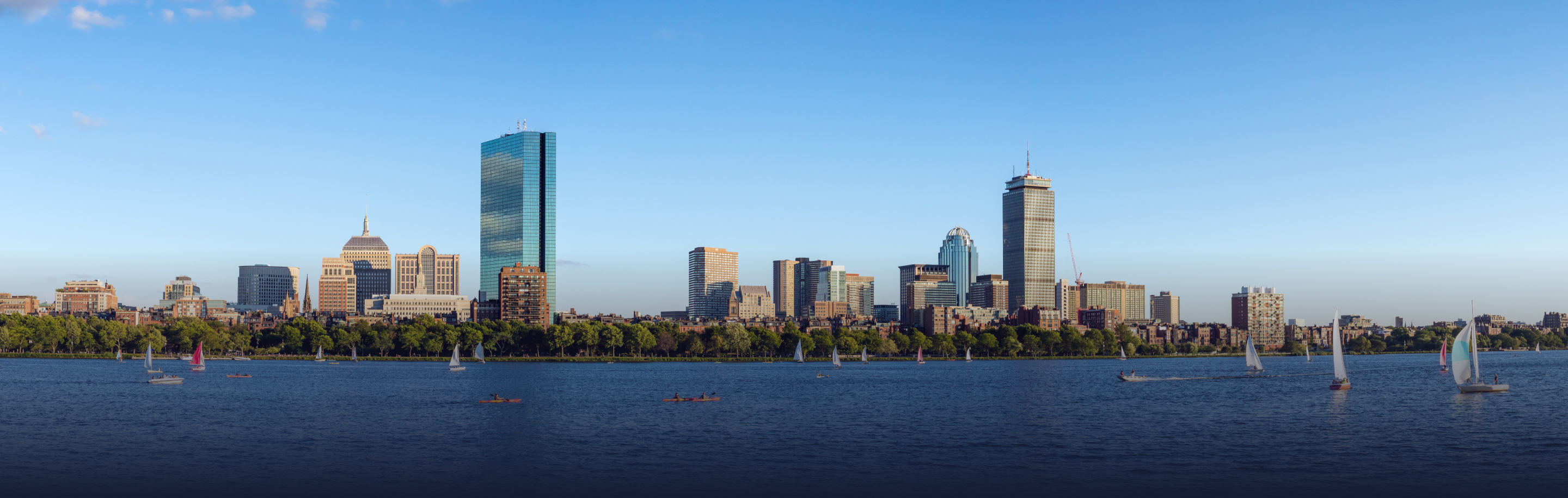 The skyline of the city of Boston.