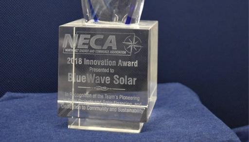 A glass award.